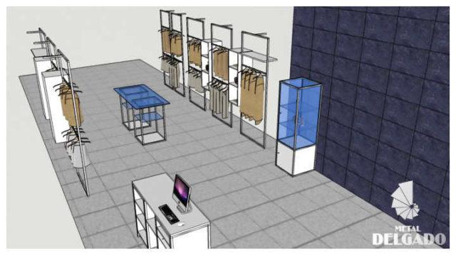 diseño-mobiliario-tienda-acero-inoxidable