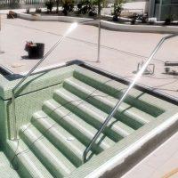 barandas acero inoxidable en piscinas tenerife