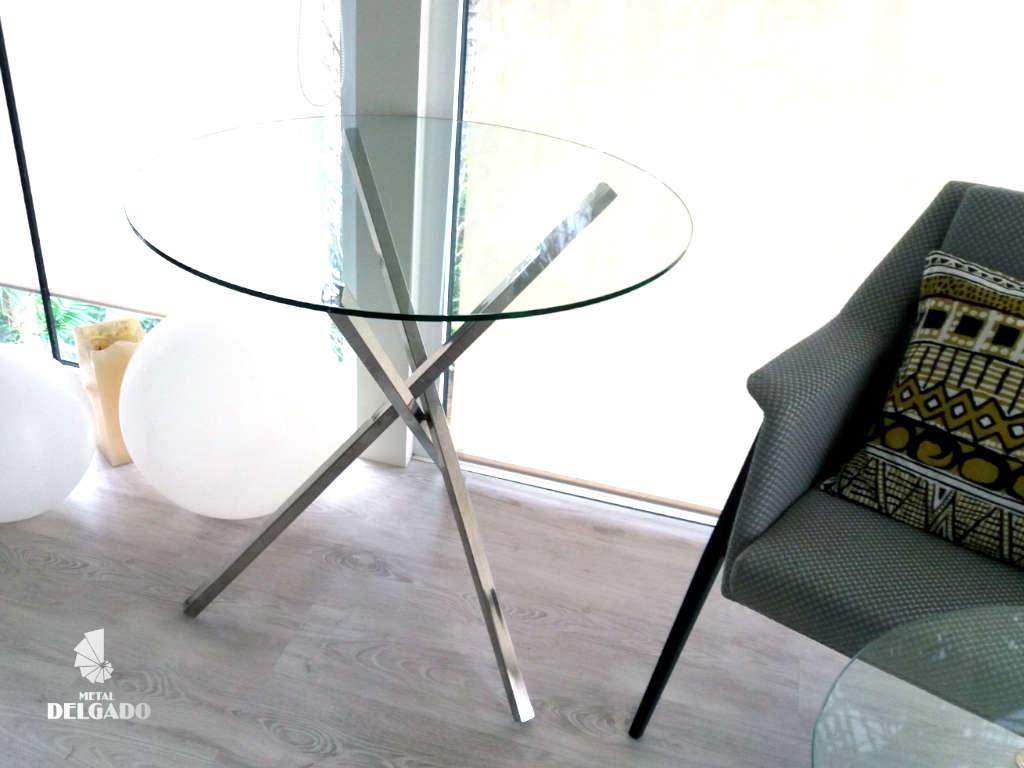 mesa de diseño en acero inoxidable tenerife