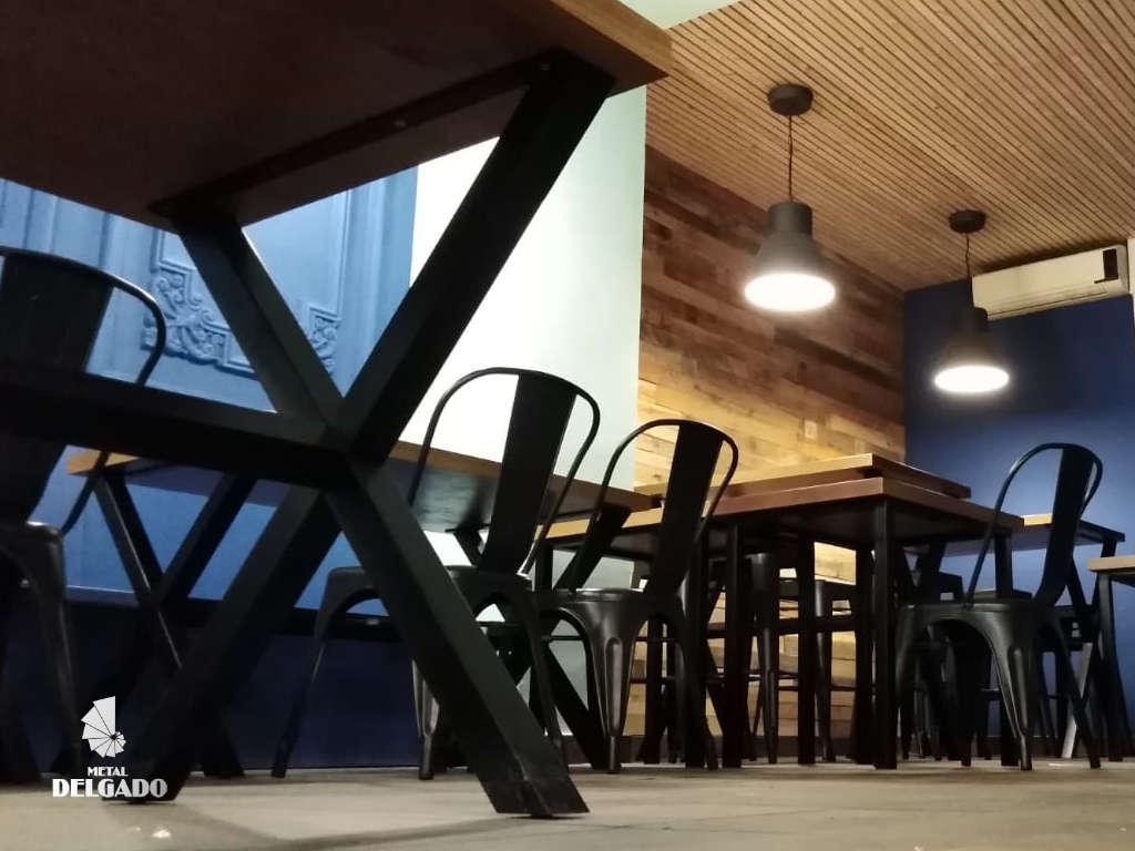 mesas estilo industrial para restaurante tenerife