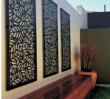 panel decorativo perforado.